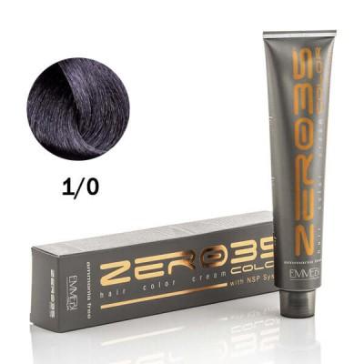 Краска для волос безаммиачная  1/0 черный / black  ammonia free  100ml