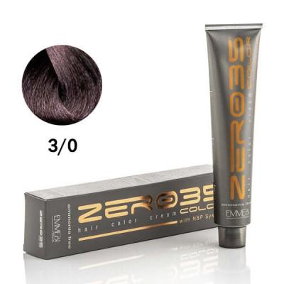 Краска для волос безаммиачная ammonia free  dark brown 3/0 темно-каштановый 100ml
