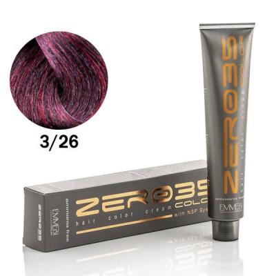 Краска для волос безаммиачнa  violet dark brown 3/26  каштан темный фиолетово-красный 100ml
