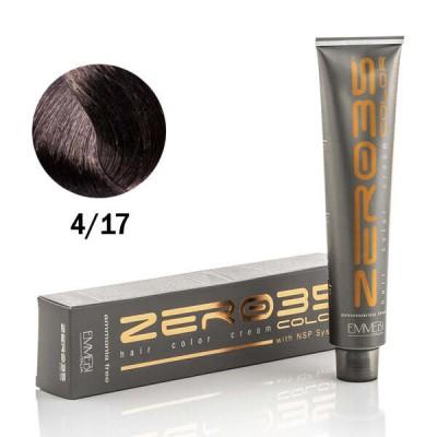 Краска для волос безаммиачнaя ice green medium brown 4/17 ледяной зеленый средне-коричневый 100ml