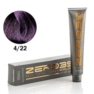 Краска для волос безаммиачнaя  Vibrant Violet Brown 4/22  интенсивно фиолетовый каштан 100ml