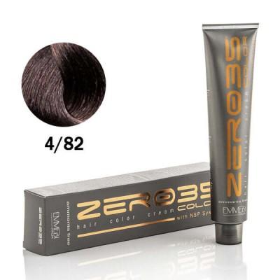 Краска для волос безаммиачнaя cold dark chocolate 4/82 холодный темный шоколад  100ml