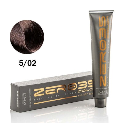 Краска для волос безаммиачнaя cold light brown 5/02 холодный светло-каштановый 100ml