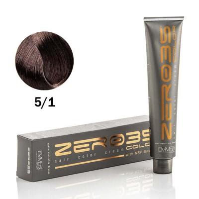 Краска для волос безаммиачнa ash light auburn5/1 светло-пепельный каштан 100ml