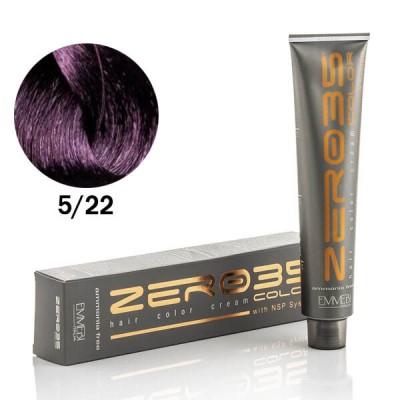 Краска для волос безаммиачнaя  Vibrant Violet Light Brown 5/22 интенсивно фиолетовый светлый каштан 100ml