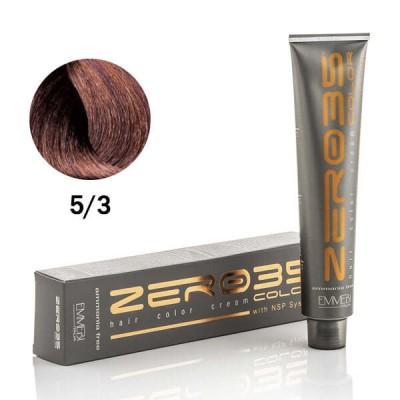 Краска для волос безаммиачнaя light golden brown 5/3 светло-золотистый каштан 100ml