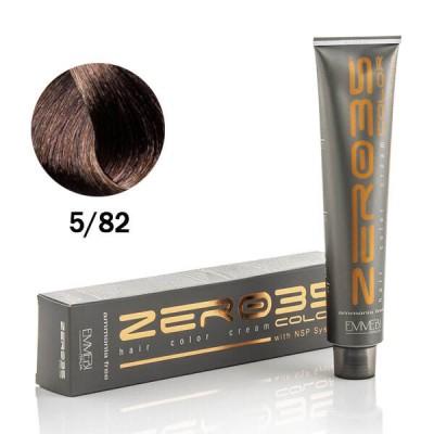 Краска для волос безаммиачнaя cold chocolate  5/82 холодный шоколад 100ml