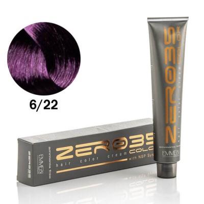 Краска для волос безаммиачная  Violet Dark Blonde 6/22 интенсивно фиолетовый темный блонд 100ml