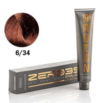 Краска для волос безаммиачнaя Dark Golden Copper Blonde золотисто-медный темный блонд 6/34 100ml