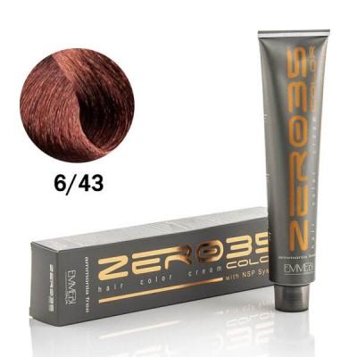 Краска для волос безаммиачнaя Dark Copper Golden Blonde 6/43 медно-золотистый темный блонд 100ml
