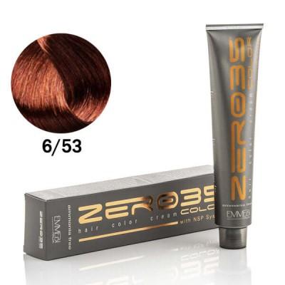 Краска для волос безаммиачнaя golden mahogany dark blonde 6/53 золотистый махагон темный блонд 100ml