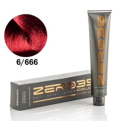 Краска для волос безаммиачнaя Extrme Red Dark Blonde  6/666 экстра красный темный блонд 100ml