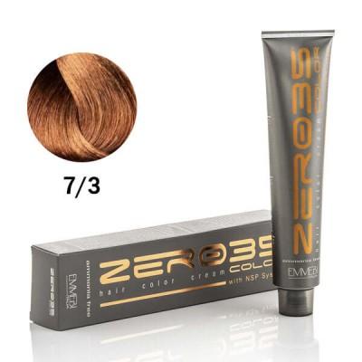 Краска для волос безаммиачнaя  golden blonde 7/3 золотистый блондин 100ml