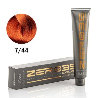 Краска для волос безаммиачнa  deep copper blonde 7/44 100ml