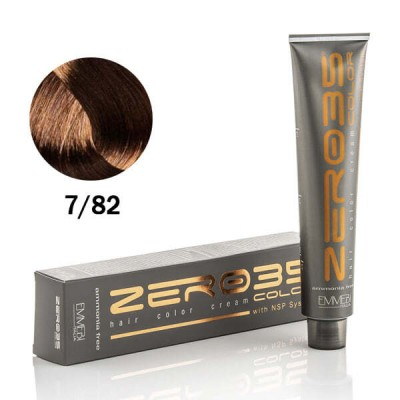 Краска для волос безаммиачнaя cold cognac 7/82 холодный коньяк 100ml
