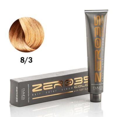 Краска для волос безаммиачнa light golden blond 8/3  золотисто-медный светлый блонд 100ml