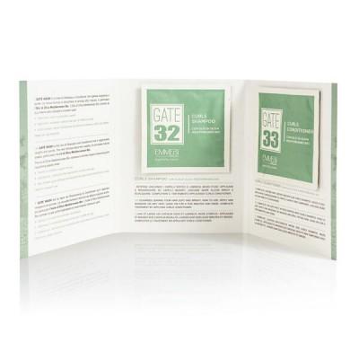 Пробники шампунь и кондиционер для кудрявых волос с органическим маслом оливы Gate 32 - 33 Oliva Bio  1*10 мл+1*10 мл