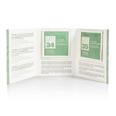 Пробники шампунь и кондиционер для объема волос с органическим маслом оливы Gate 34 - 35 Oliva Bio 1*10 мл+1*10 мл