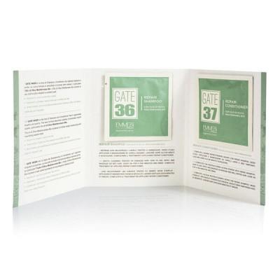 Пробники восстанавливающий шампунь и кондиционер для волос с органическим маслом оливы Gate 36 - 37 Oliva Bio