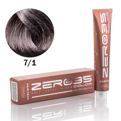 Краска для волос аммиачная  ash blonde 7/1 пепельный блонд 100ml