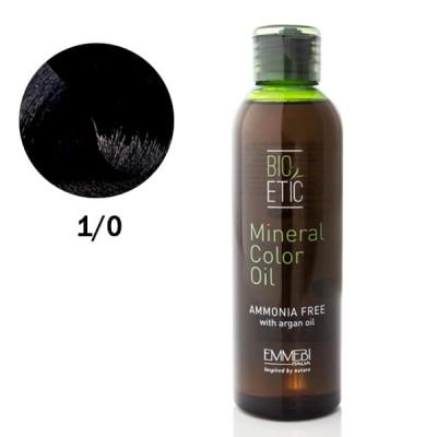Краситель масляный для волос 1/0 черний / black Mineral Color Oil 150ml