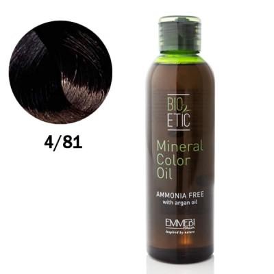 Краситель масляный для волос 4/81 темный холодный шоколад / dark ice chocolate Mineral Color Oil  150ml