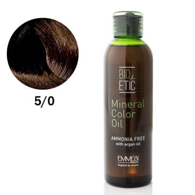 Краситель масляный для волос Mineral Color Oil  light chestnut 5/0 светлый каштан 150ml