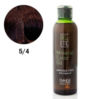 Краситель масляный для волос Mineral Color Oil  light copper chestnut 5/4 светлый медно-золотистый каштан 150ml