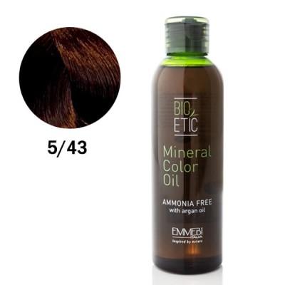Краситель масляный для волос 5/43 Light Copper Golden Brown  светлый медно-золотистый каштан Mineral Color Oil 150ml
