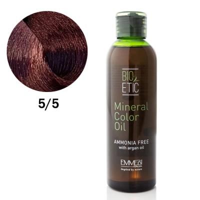 Краситель масляный для волос Mineral Color Oil mahogany light brown 5/5 красный махагон светло-каштановый 150ml