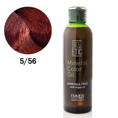 Краситель масляный для волос Mineral Color Oil red mahogany light chestnut 5/56 красный махагон светло-каштановый 150ml