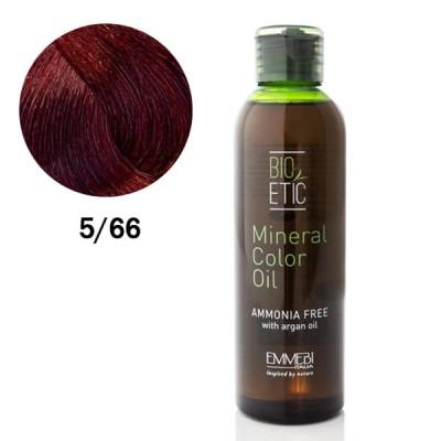 Краситель масляный для волос Mineral Color Oil  deep red light brown 5/66 глубокий красный светло-каштановый 150 ml