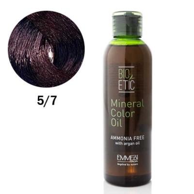 Краситель масляный для волос  Mineral Color Oil  violet light brown 5/7 фиолетовый светлый каштан  150ml