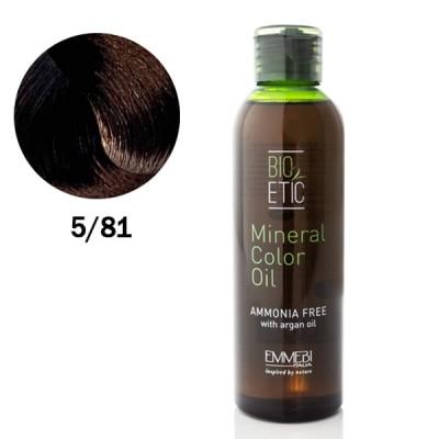 Краситель масляный  для волос 5/81 холодный шоколад / ice chocolate Mineral Color Oil  150ml