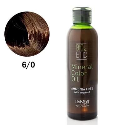 Краситель масляный для волос  Mineral Color Oil  dark blonde 6/0 темный блонд 150ml
