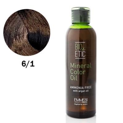 Краситель масляный для волос Mineral Color Oil  dark ash blonde 6/1 темно-пепельный блонд 150ml