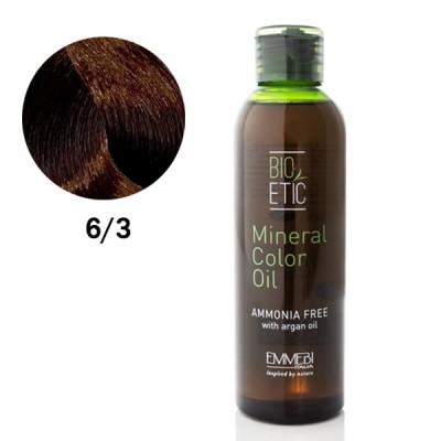Краситель масляный для волос Mineral Color Oil  dark golden blonde 6/3 темно-золотистый блонд 150ml