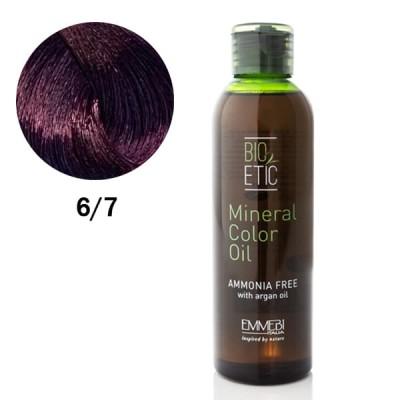 Краситель масляный для волос Mineral Color Oil violet dark blonde 6/7 фиолетовый темный блонд 150ml