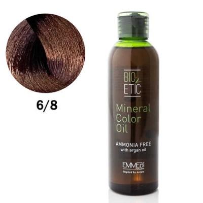 Краситель масляный для волос Mineral Color Oil chocolate 6/8  шоколад 150ml