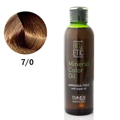 Краситель масляный для волос  Mineral Color Oil  blonde 7/0 блондин 150ml