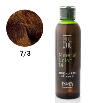 Краситель масляный для волос Mineral Color Oil golden blonde 7/3 золотистый блондин 150ml