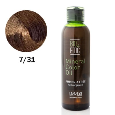 Краситель масляный для волос Mineral Color Oil  7/31 Ice Blonde  холодный блонд 150ml