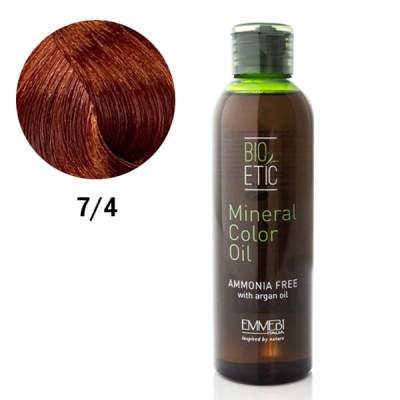 Краситель масляный для волос copper blonde медный блонд 7/4 Mineral Color Oil  150ml