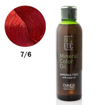 Краситель масляный для волос flaming red 7/6  огненно-красный  Mineral Color Oil 150ml