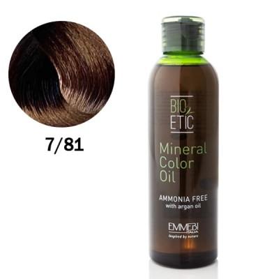 Краситель масляный  для волос 7/81 холодный лесной орех / ice hazelnut Mineral Color Oil 150ml