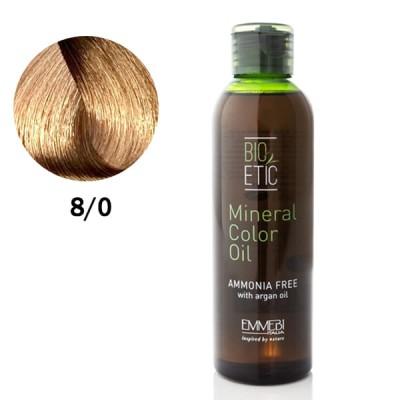 Краситель масляный для волос Mineral Color Oil light blonde 8/0 светлый блонд 150ml