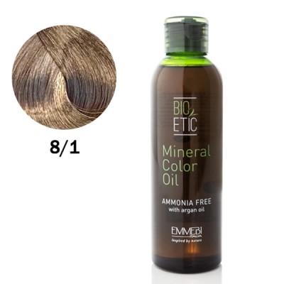 Краситель масляный для волос Mineral Color Oil  light ash blonde 8/1 светло-пепельный блонд150ml