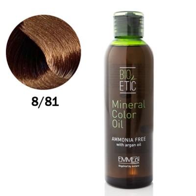 Краситель масляный для волос  8/81 холодный орехово-шоколадный / ice gianduja Mineral Color Oil 150ml