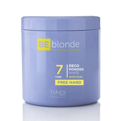 Осветляющая пудра Экстремальный блонд FREE HAND (голубой) Be Blonde Deco Powder Blue 7 FREE HAND  500 грамм