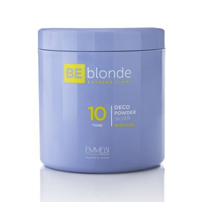 Осветляющая пудра Экстремальный блонд (серебро) Be Blonde Deco Powder Silver 10  500 грамм